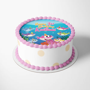 Baby Shark Girl Cake Toppers - 3