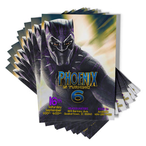 Black Panther Birthday Invitation - 1