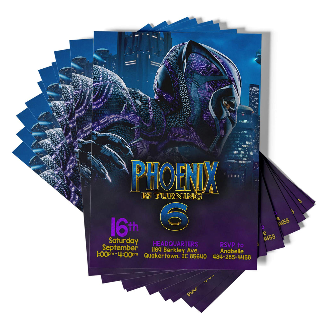 Black Panther Invitations - 1