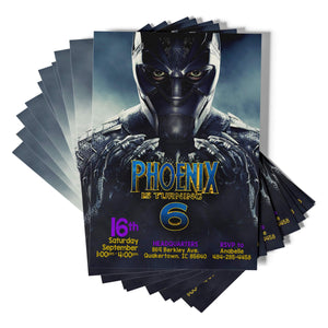 Black Panther Superhero Invitations - 1