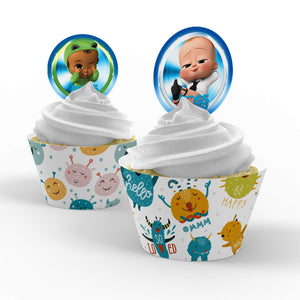 Boss Baby Cupcake Toppers - 1