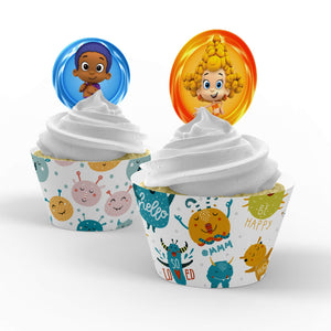 Bubble Guppies Cupcake Toppers - 2
