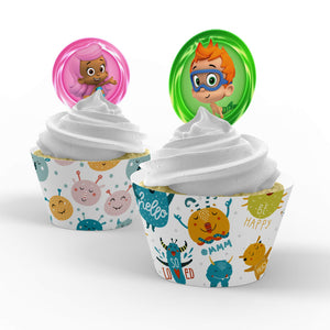 Bubble Guppies Cupcake Toppers - 1