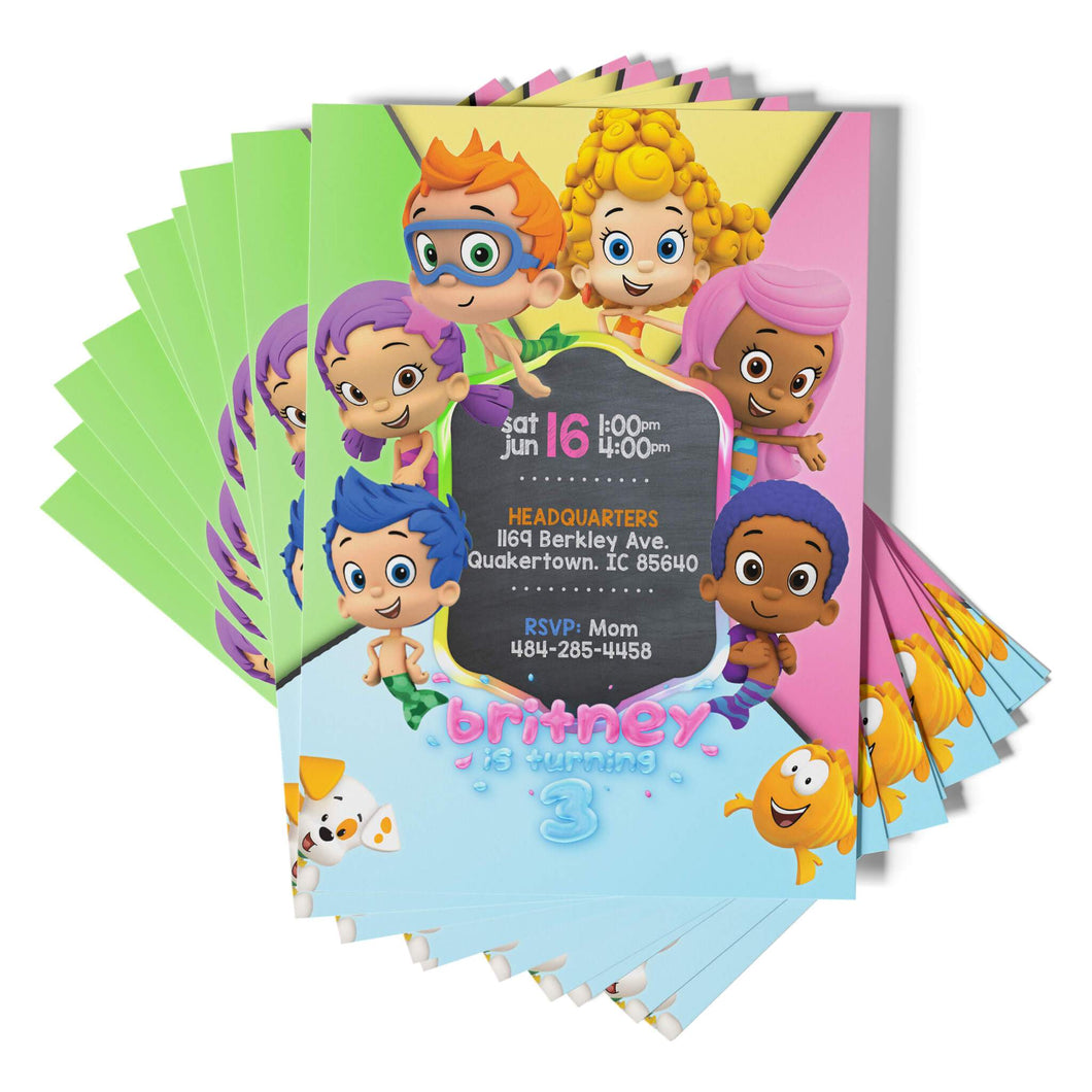 Bubble Guppies Invitations - 1