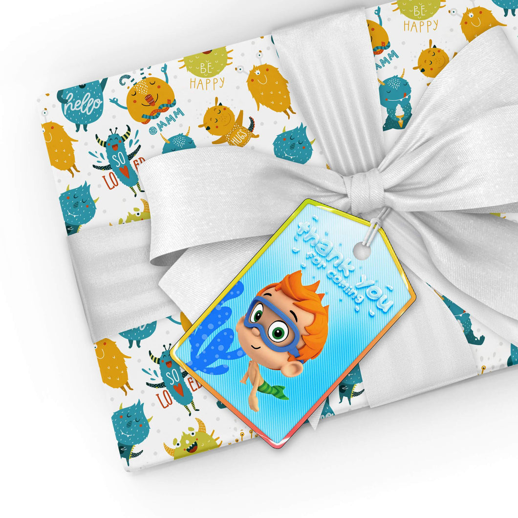 Bubble Guppies Thank You Tags - 1