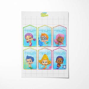 Bubble Guppies Thank You Tags - 2
