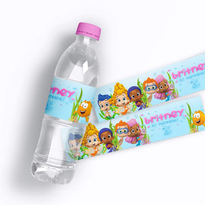 Bubble Guppies Water Bottle Labels - 1