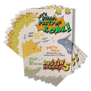 Dinosaur Birthday Party Invitations - 1