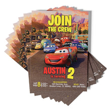 Load image into Gallery viewer, Disney Cars Birthday Invitations - 2