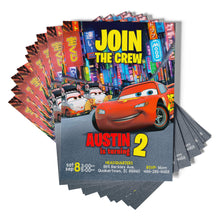 Load image into Gallery viewer, Disney Cars Birthday Invitations - 3