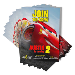 Disney Cars Birthday Invitations - 1