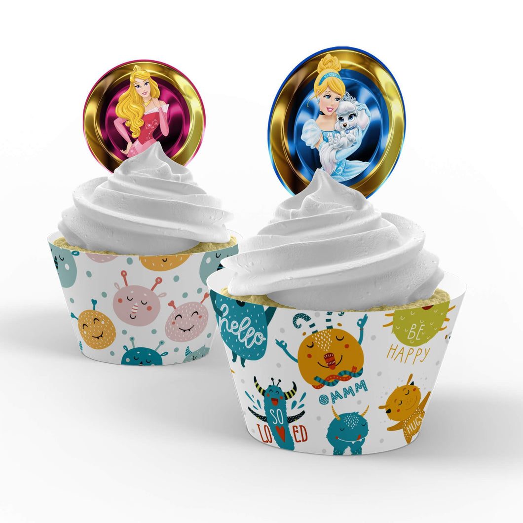 Disney Princess Cupcake Toppers - 1