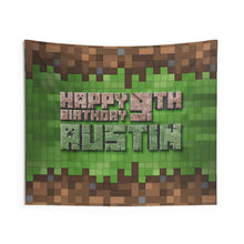 Load image into Gallery viewer, Minecraft Birthday Party Banner