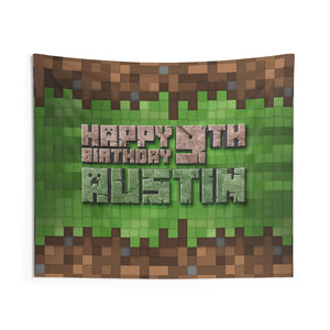Minecraft Birthday Party Banner
