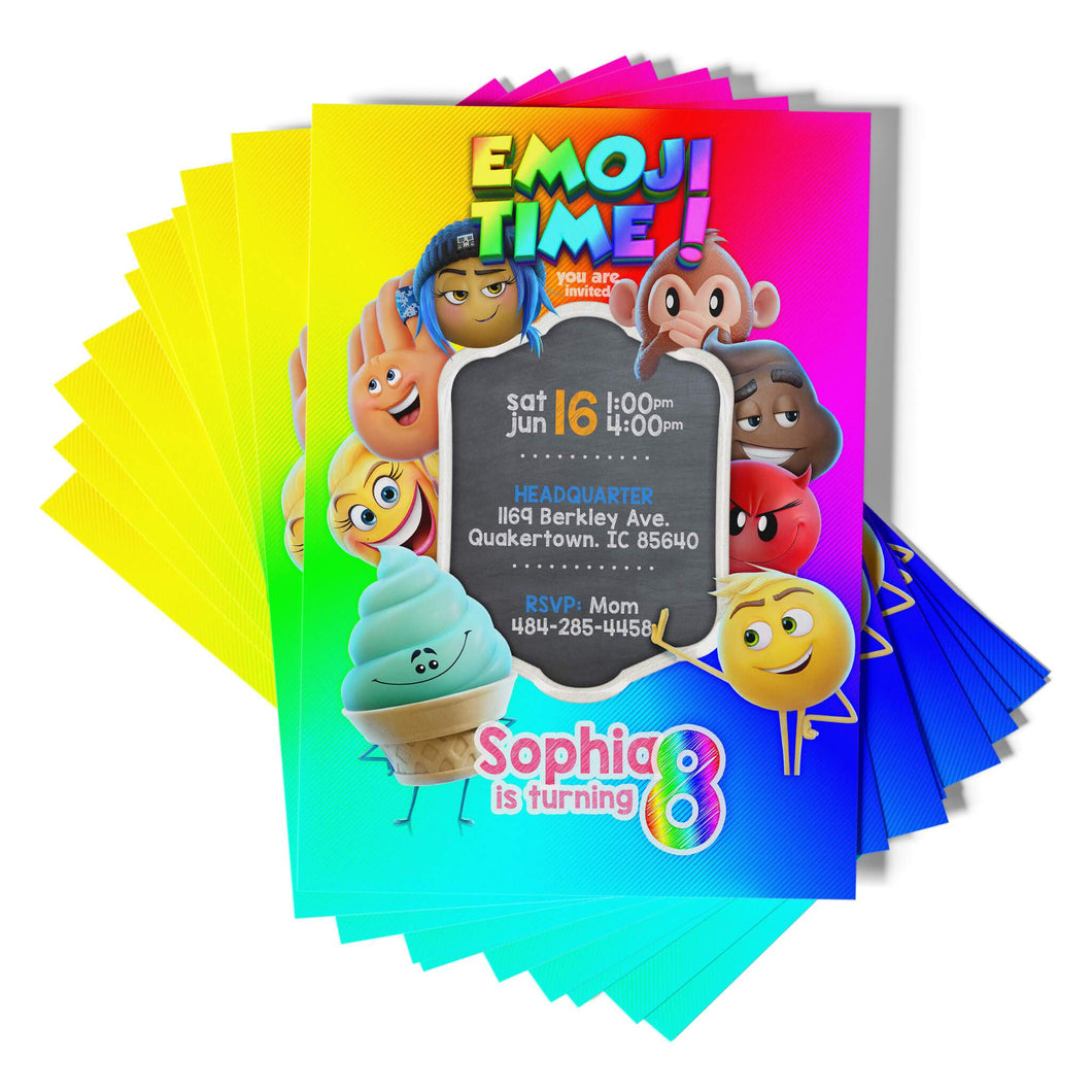 Emoji Party Invitations - 1