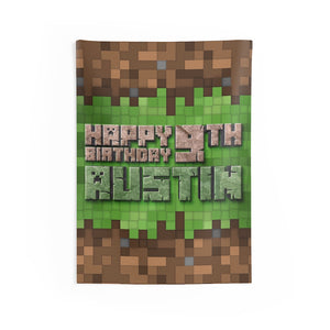 Minecraft Vertical Birthday Banner