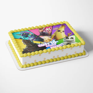 Fortnite Birthday Cake Season 9 Topper - 4