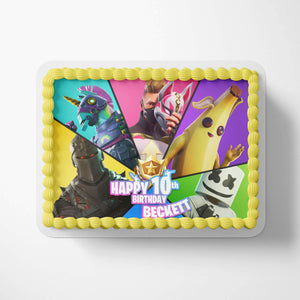 Fortnite Birthday Cake Season 9 Topper - 3