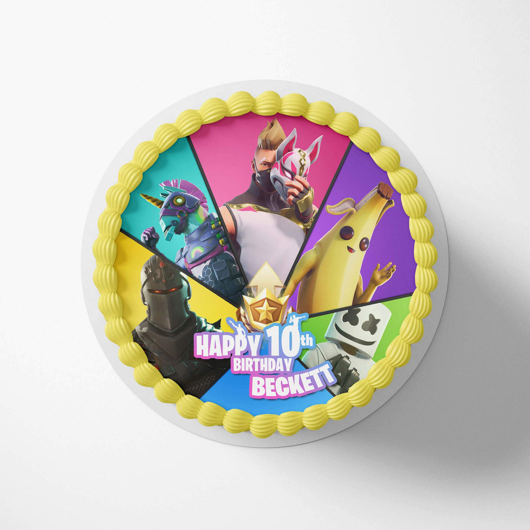 Fortnite Birthday Cake Season 9 Topper - 1