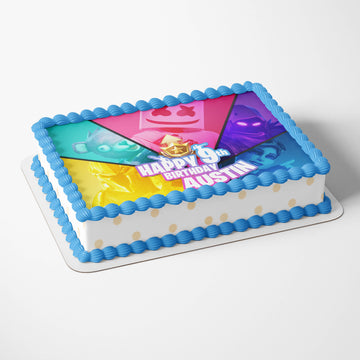 Fortnite Battle Royale Birthday Party Sheet Cake Toppers