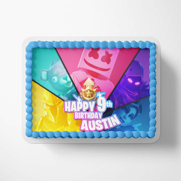 Fortnite Battle Royale Birthday Party Edible Image Cake Toppers