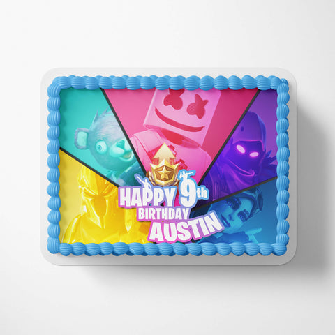 Party Decorations - Kids birthday Cake Image Topper
