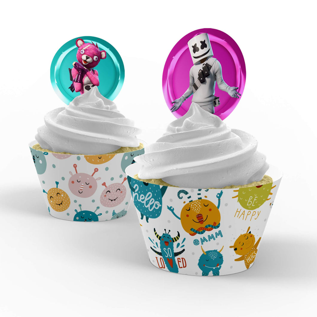 Fortnite Cupcake Toppers - 1