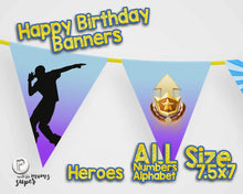 Load image into Gallery viewer, Fortnite Happy Birthday Banner - 5