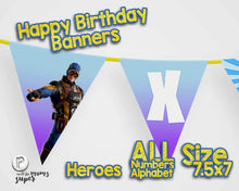 Load image into Gallery viewer, Fortnite Happy Birthday Banner - 6