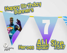 Load image into Gallery viewer, Fortnite Happy Birthday Banner - 2