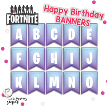 Load image into Gallery viewer, Fortnite Happy Birthday Banners - 1