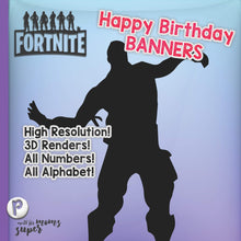 Load image into Gallery viewer, Fortnite Happy Birthday Banners - 6