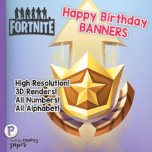 Load image into Gallery viewer, Fortnite Happy Birthday Banners - 2