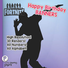 Load image into Gallery viewer, Fortnite Happy Birthday Banners - 4