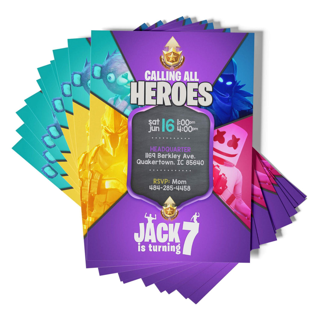 Fortnite Invitations - 1