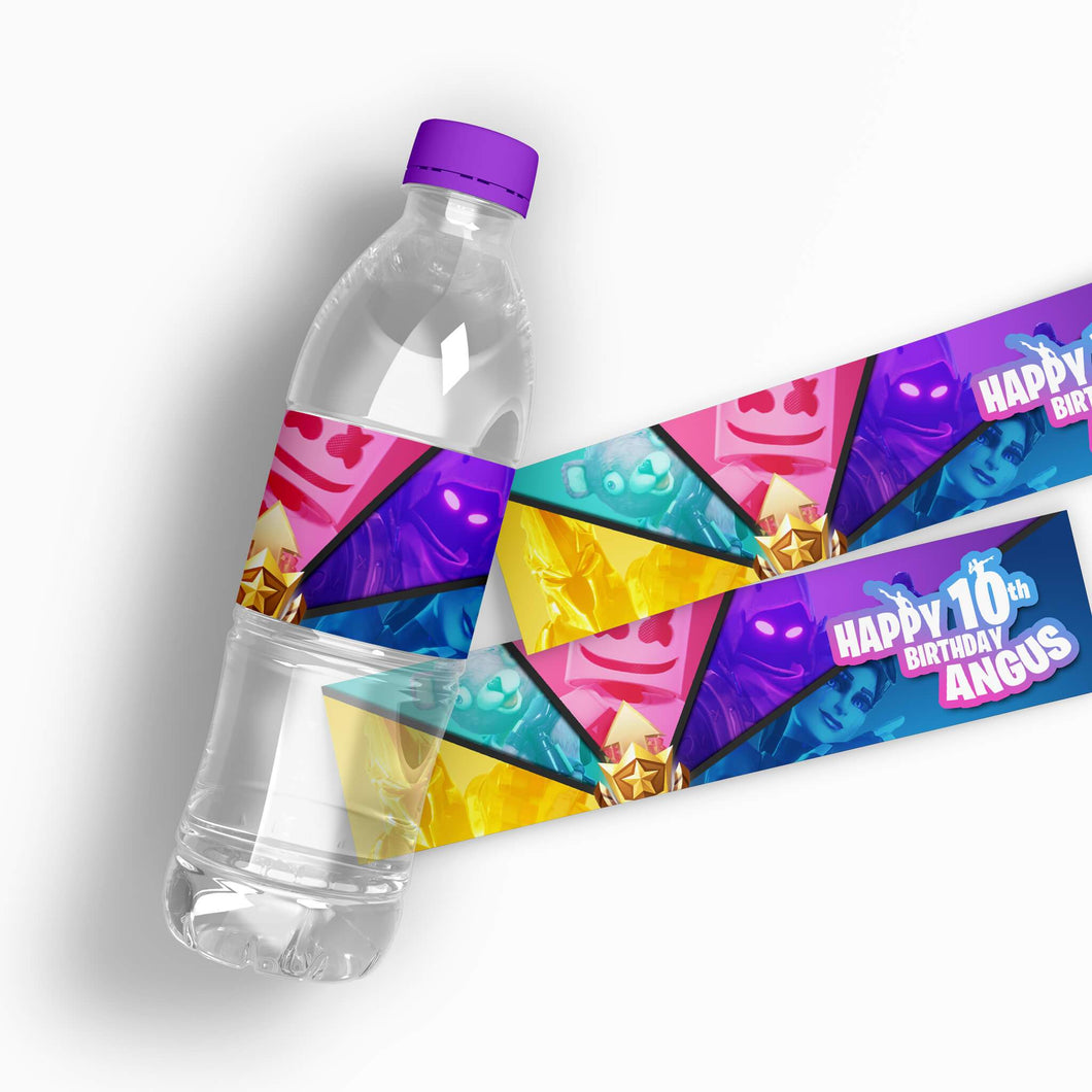 Fortnite Water Bottle Labels - 1