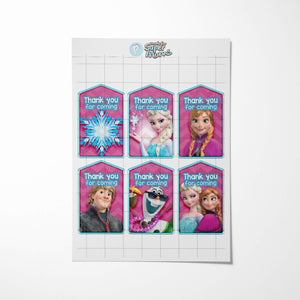 Frozen 2 Thank You Tags - 2