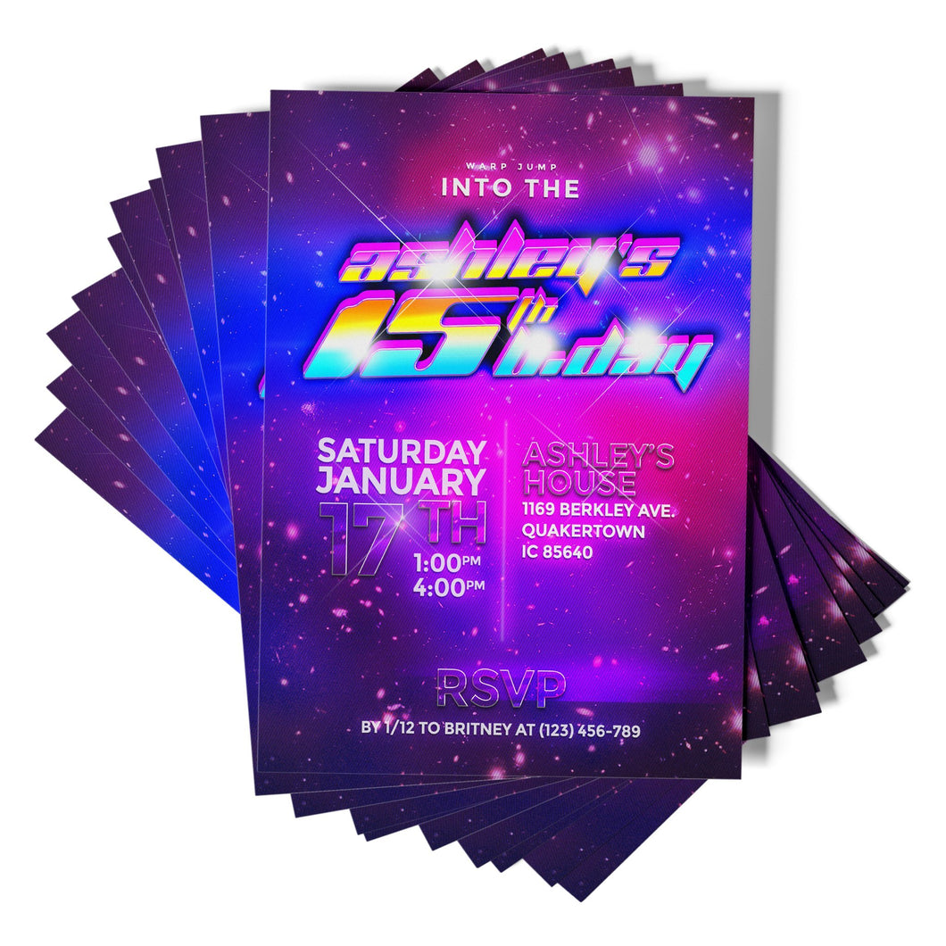 Galaxy Party Invitations - 1