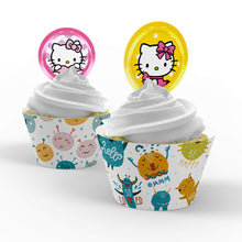 Load image into Gallery viewer, Hello Kitty Cupcake Toppers - 2
