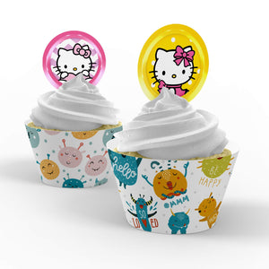 Hello Kitty Cupcake Toppers - 2