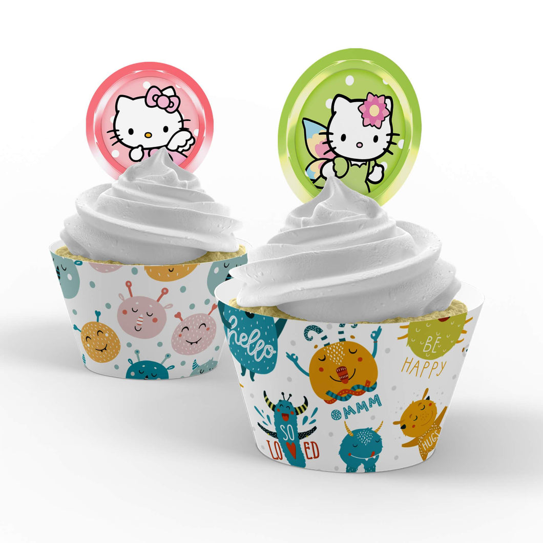 Hello Kitty Cupcake Toppers - 1