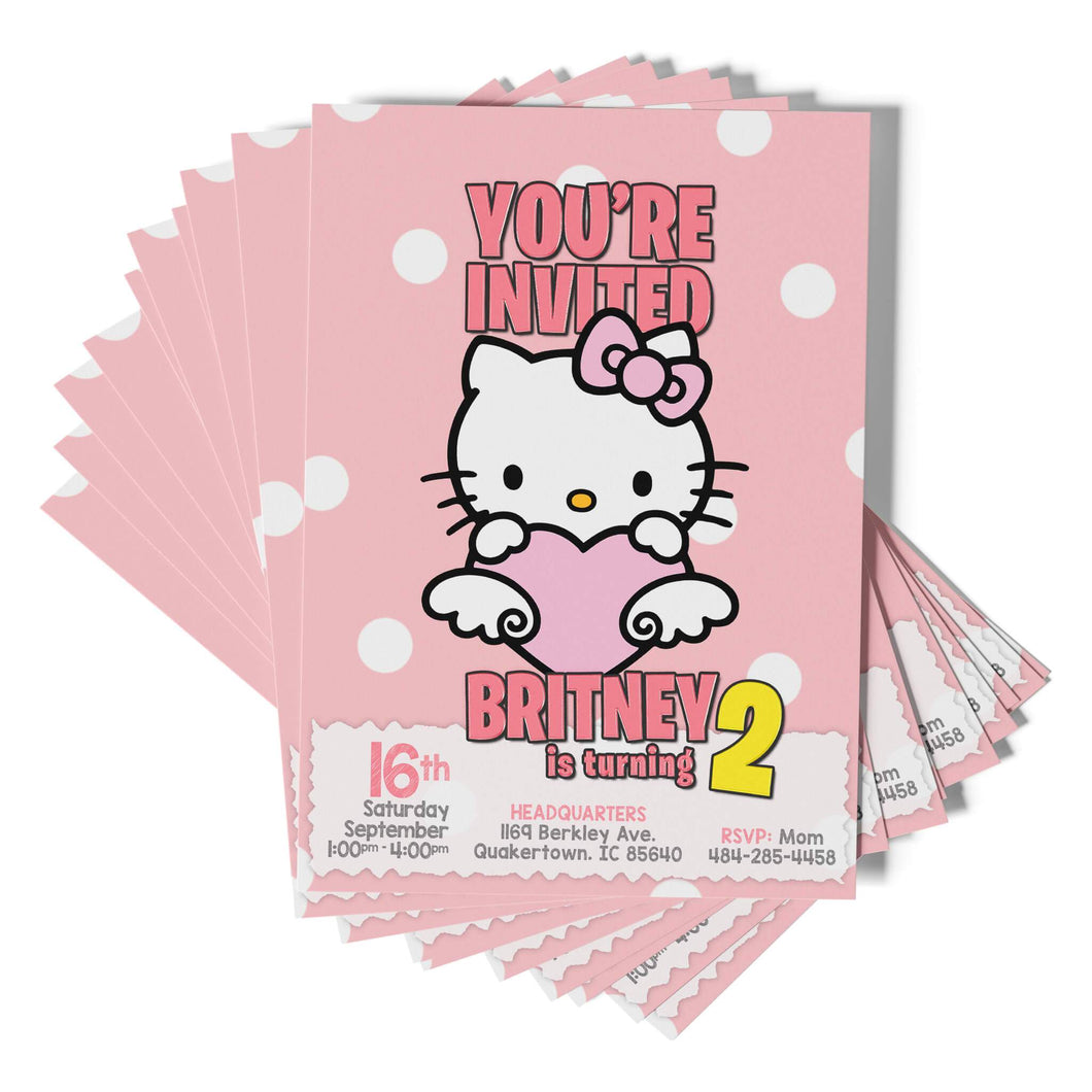 Hello Kitty Invitations - 1