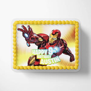 Iron Man Edible Cake Toppers - 3