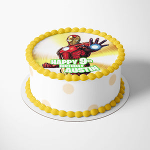 Iron Man Edible Cake Toppers - 2