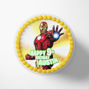 Iron Man Edible Cake Toppers - 1