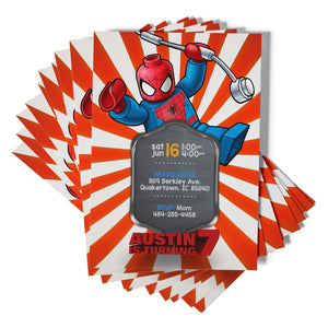 Lego Spider-Man Invitations - 1
