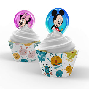 Mickey & Minnie Mouse Cupcake Toppers - 1