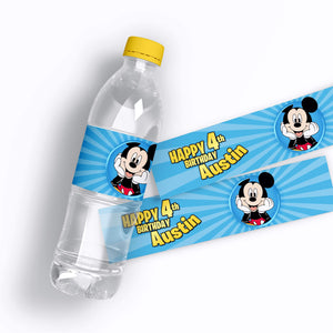 Mickey Mouse Water Bottle Labels - 1