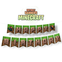 Load image into Gallery viewer, Minecraft Birthday Banners - 1