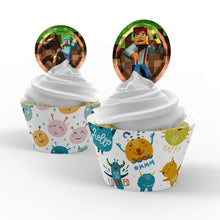 Load image into Gallery viewer, Minecraft Cupcake Toppers - 1